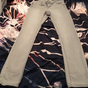 Gray low rise skinny jeans